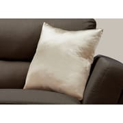 "Monarch Specialties 18"" x 18"" Polyester Gold Accent Pillow (I 9334)"