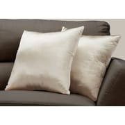 "Monarch Specialties 18"" x 18"" Polyester Gold Accent Pillow, Set of 2 (I 9335)"