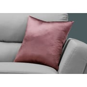 "Monarch Specialties 18"" x 18"" Polyester Pink Accent Pillow (I 9338)"