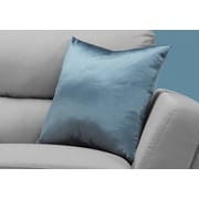 "Monarch Specialties 18"" x 18"" Polyester Blue Accent Pillow (I 9342)"