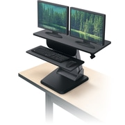 "Balt Desktop Riser Sit to Stand Workstation, Black, 21.5"" - 36.7""H x 35.5""W x 23""D (91106)"
