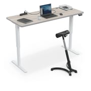 "Balt Up-Rite Electric Height Adjust Sit to Stand Desk, 72""L x 30""W Rectangle, Gray Elm (91153-B-8201-BK)"