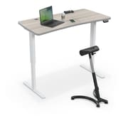"Balt Up-Rite Electric Height Adjust Sit to Stand Desk, 60""L x 30""W Curved, Gray Elm (91153-C-8201-BK)"