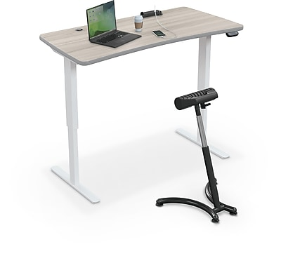 Balt Up-Rite Electric Height Adjust Sit to Stand Desk, 60