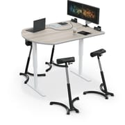 "Balt Up-Rite Electric Height Adjust Sit to Stand Desk, 48"" x 72"" Media Table, Gray Elm (91153-E-8201-BK)"