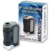 Carson Optical MicroBrite Plus 60x–120x LED Pocket Microscope, (MM-300)