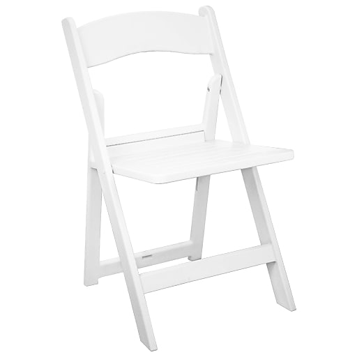 Advantage White Resin Folding Chairs With Slatted Seat Rfwca 100 Slat Staples