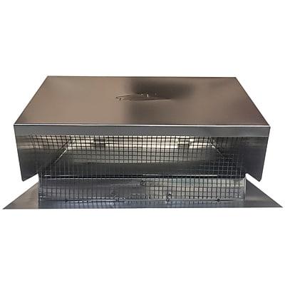Builder'S Best 012634 Black Metal Roof Vent Cap, 6