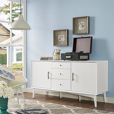 Crosley Landon Buffet in White (aka Large Console) (CF1107-WH)