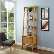 Crosley Landon Small Etagere in Acorn (CF1109-AC)