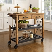 Crosley Roots Rack Industrial Kitchen Cart (CF3008-NA)