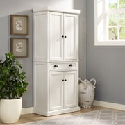Crosley Seaside Kitchen Pantry in Distressed White Finish (CF3103-WH)