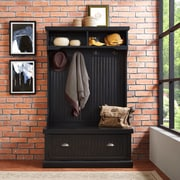 Crosley Seaside Hall Tree In Distressed Black Finish (CF6006-BK)