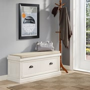 Crosley Seaside Entryway Bench In Distressed White Finish (CF6011-WH)