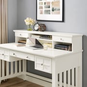 Crosley Adler Computer Hutch in White Finish (CF6509-WH)