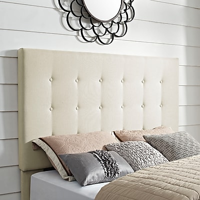 Crosley Reston Square Upholstered King/Cal King Headboard In Crème Linen (CF90005-601CR)