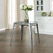 Crosley Amelia Metal Café Table In Galvanized (CF220130-GA)