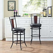 Crosley Soho Swivel Counter Stool in Black with Black Cushion (CF520126BK-BK)