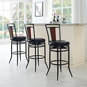 Crosley Soho Swivel Bar Stool in Black with Black Cushion (CF520130BK-BK)