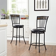 Crosley Templeton Swivel Counter Stool in Black Gold with Black Cushion (CF520826BG-BK)