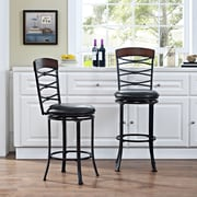 Crosley Highland Swivel Counter Stool in Black Gold with Black Cushion (CF520926BG-BK)