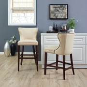 Crosley Tilson Counter Stool in Mahogany with Crème Cushion (CF521826MA-CR)