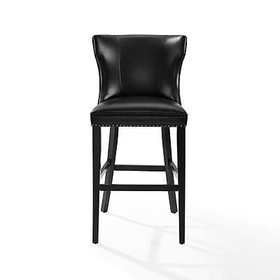 Crosley Tilson Bar Stool iin Black with Black Cushion (CF521830BK-BK)