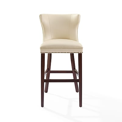 Crosley Tilson Bar Stool in Mahogany with Crème Cushion (CF521830MA-CR)