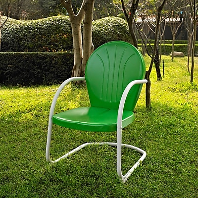 Crosley Griffith Metal Chair In Grasshopper Green Finish (CO1001A-GR)