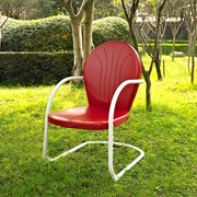 Crosley Griffith Metal Chair In Red Finish (CO1001A-RE)