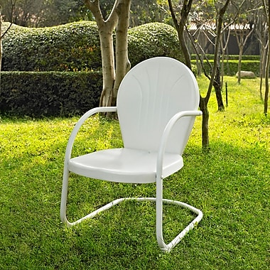 Crosley Griffith Metal Chair In White Finish (CO1001A-WH)