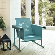 Crosley Veranda Single Glider Chair In Caribbean Blue (CO1005A-BL)