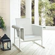 Crosley Veranda Single Glider Chair In Alabaster White (CO1005A-WH)