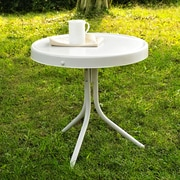 Crosley Retro Metal Side Table In Alabaster White (CO1011A-WH)