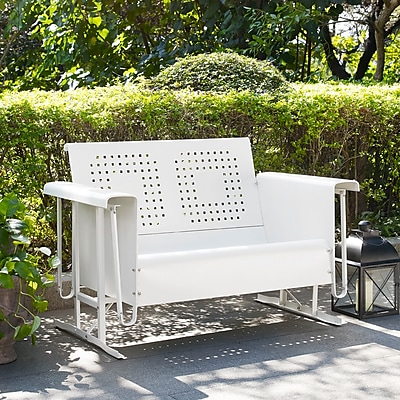 Crosley Bates Loveseat Glider In White (CO1017-WH)