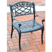 Crosley Sedona Cast Aluminum Arm Chair in Charcoal Black Finish (Set of 2) (CO6101-BK)