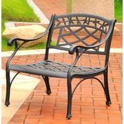 Crosley Sedona Cast Aluminum Club Chair in Charcoal Black Finish (CO6103-BK)