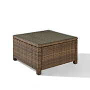 Crosley Bradenton Outdoor Wicker Sectional Glass Top Coffee Table (CO7207-WB)