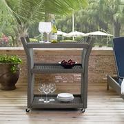 Crosley Palm Harbor Outdoor Wicker Bar Cart (CO7213-WG)
