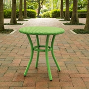 Crosley Palm Harbor Outdoor Wicker Round Side Table In Green (CO7217-GR)