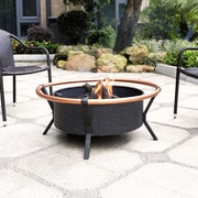 Crosley Yuma Copper Ring Firepit in Black (CO9005A-BK)