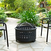 Crosley Hudson Basket Weave Firepit in Black (CO9009A-BK)