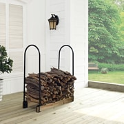 Crosley Hartman Adjustable Firewood Storage Rack (CO9101A-BK)