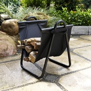Crosley Logan Firewood Storage Carrier in Black (CO9102A-BK)