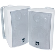 "Dual Electronics Lu43Pw 4"" 3-Way Indoor/Outdoor Speakers, White (DULLU43PWDS)"
