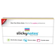 """Slickynotes Assorted Colors, Self Sticky-Notes, 7.8"""" x 3.94"""", Plastic, 95 Sheets Per Pad, Pack of 4 Pads (NL-4A)"""
