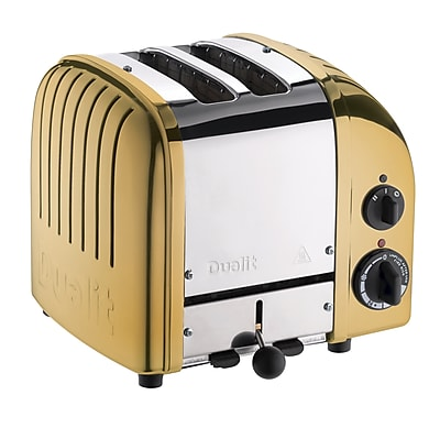 Dualit New Gen 2 Slice Toaster, Brass (27441)