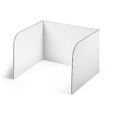 Classroom Products Privacy Shield 13 Inch Tall w/Window - White - (Pack of 30)