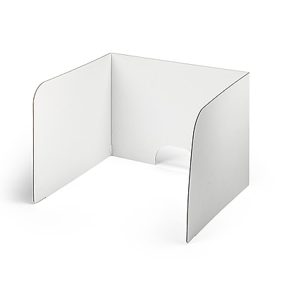 Classroom Products Voting Booth 19 Inch Tall Corrugated Cardboard Portable - White - (Pack of 10)
