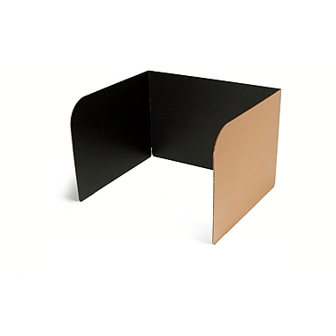 Classroom Products Voting Booth 13 Inch Tall Corrugated Cardboard Portable - Black - (Pack of 20)